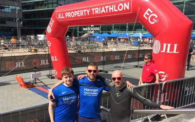 Team Hannan at JLL Property Triathlon