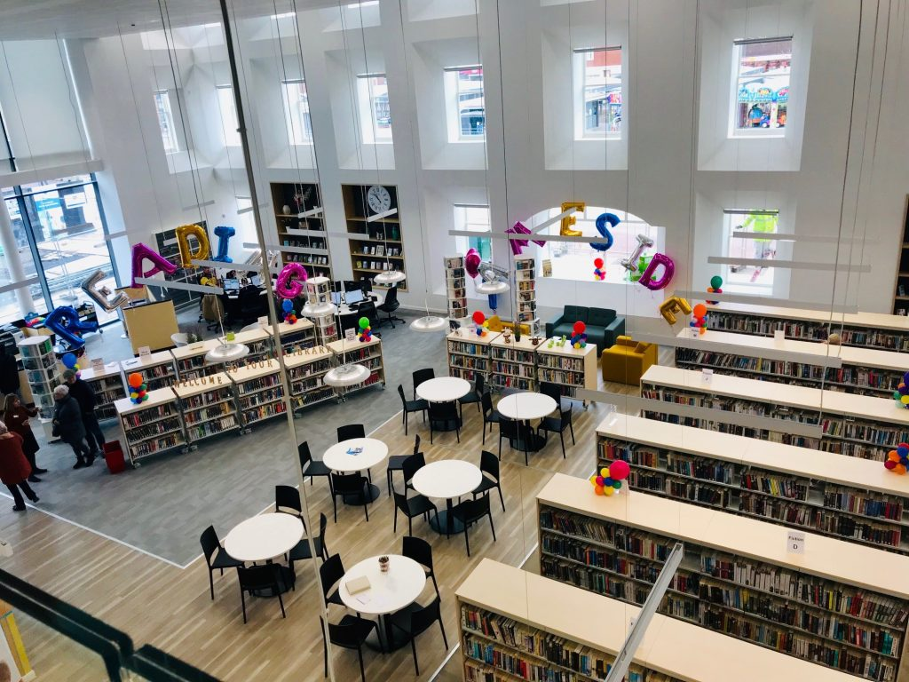 The new library at Tameside One